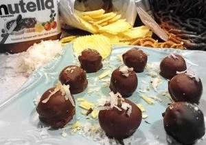 Nutella Pretzel Chip Truffles