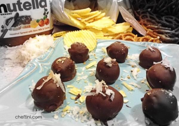 Nutella Chip-zel Coconut Truffles