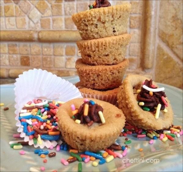 Mini Chocolate Chip Cookie Cupcakes