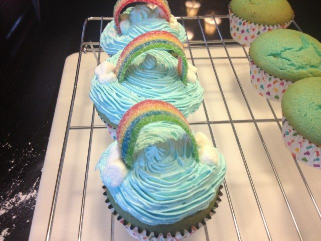 Rainbow Cupcakes with Airhead Xtremes 6