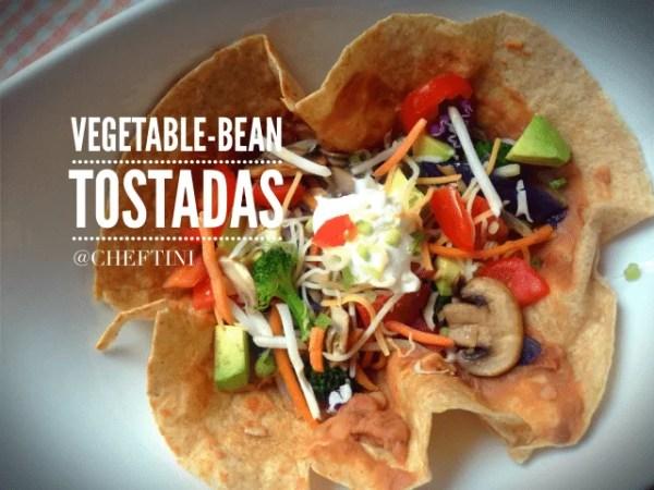 Vegetable Bean Tostadas
