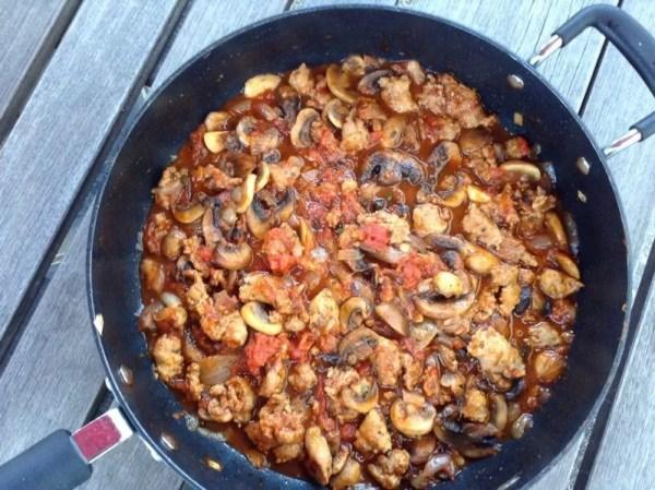 Sausage and Mushroom Ragu