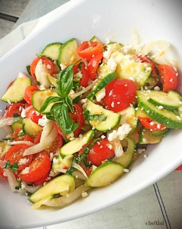 Tomato Zucchini Salad with Ricotta Salata