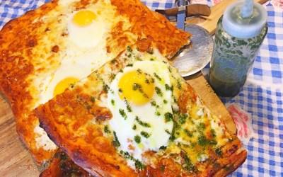 Sunny Side Up Breakfast Pizza