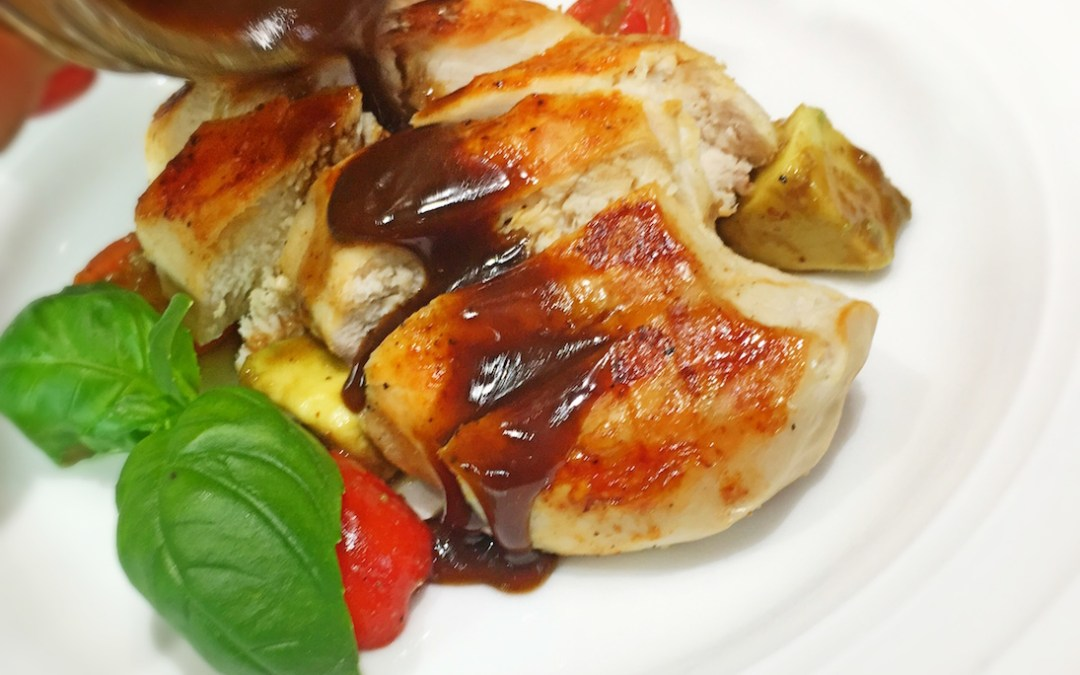 Paprika Spiced Grilled Chicken with Stoneground Mustard Balsamic Vinaigrette