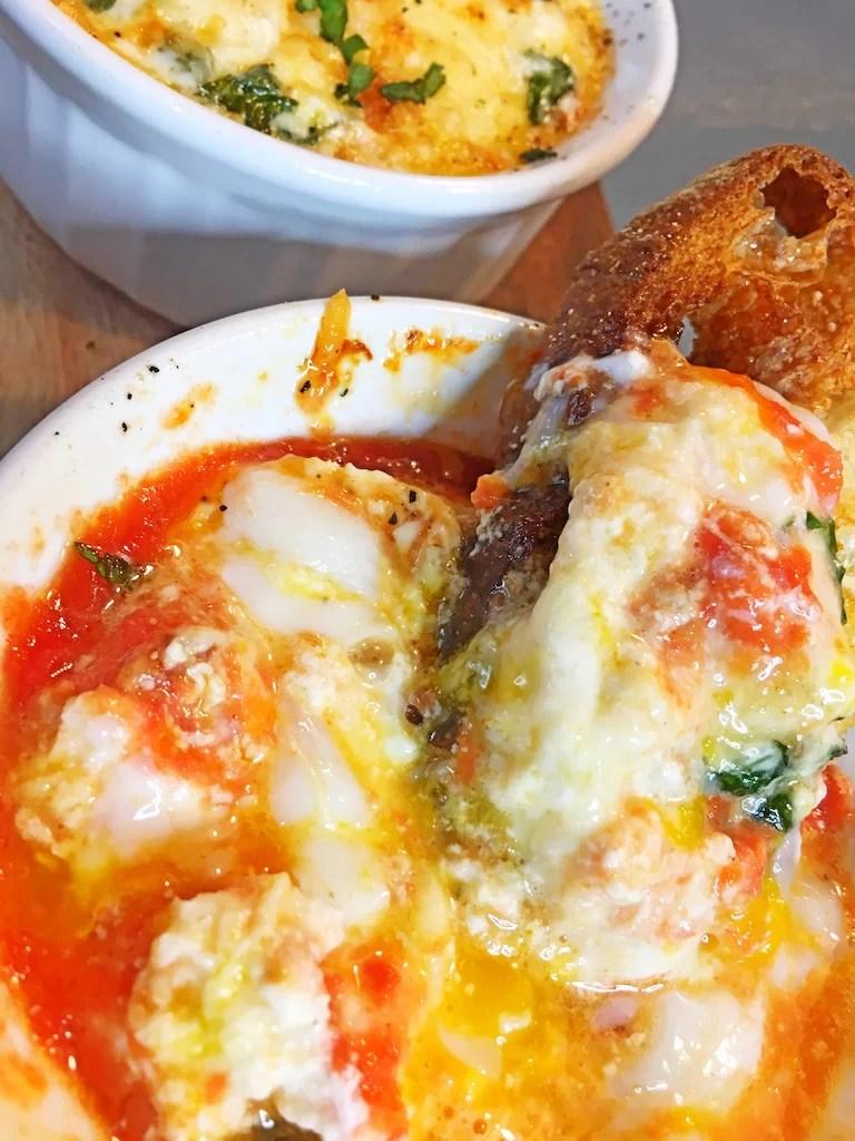Toaster Oven Eggs Italian Bread