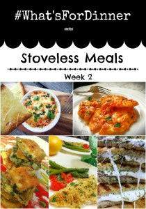 What's for DInner weekly menu
