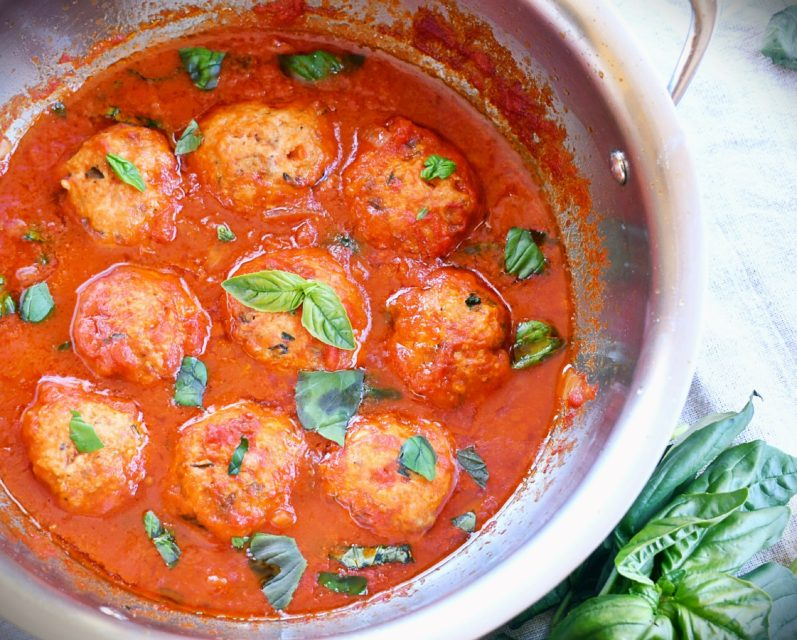Tasty Turkey Meatballs in San Marzano Sauce