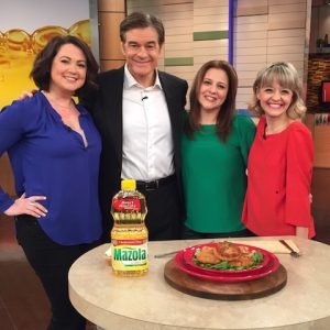 My White Bean Cakes on Dr. Oz with Mazola Corn Oil