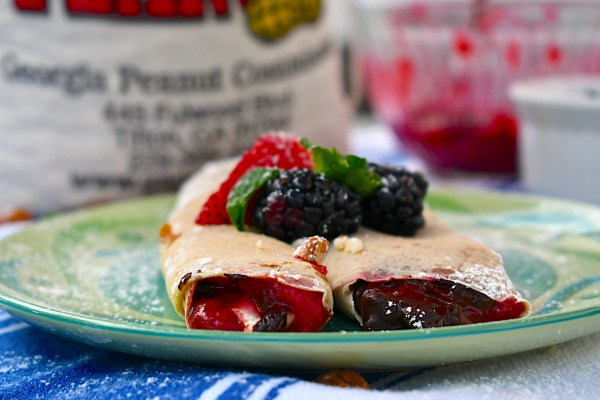 Get MILKED with these Chocolate Berry Filled Peanut Milk Crepes