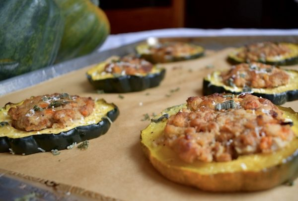 Stuffed Acorn Squash Rings