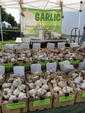garlic fest Hansens garlic