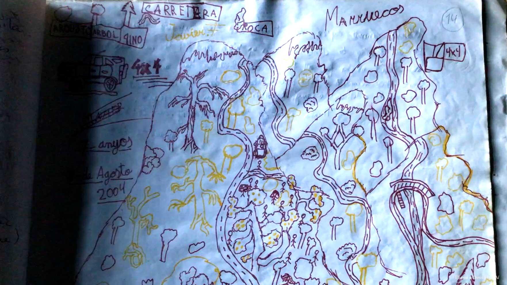 Desenho-das-montanhas-do-Rife