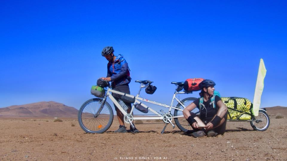 Conhecer Marrocos de bicicleta tandem