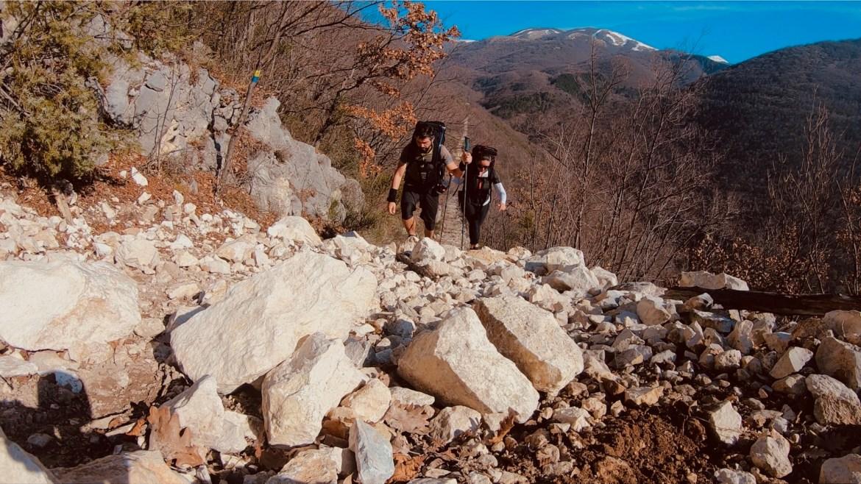 Hiking, montanhas Itália