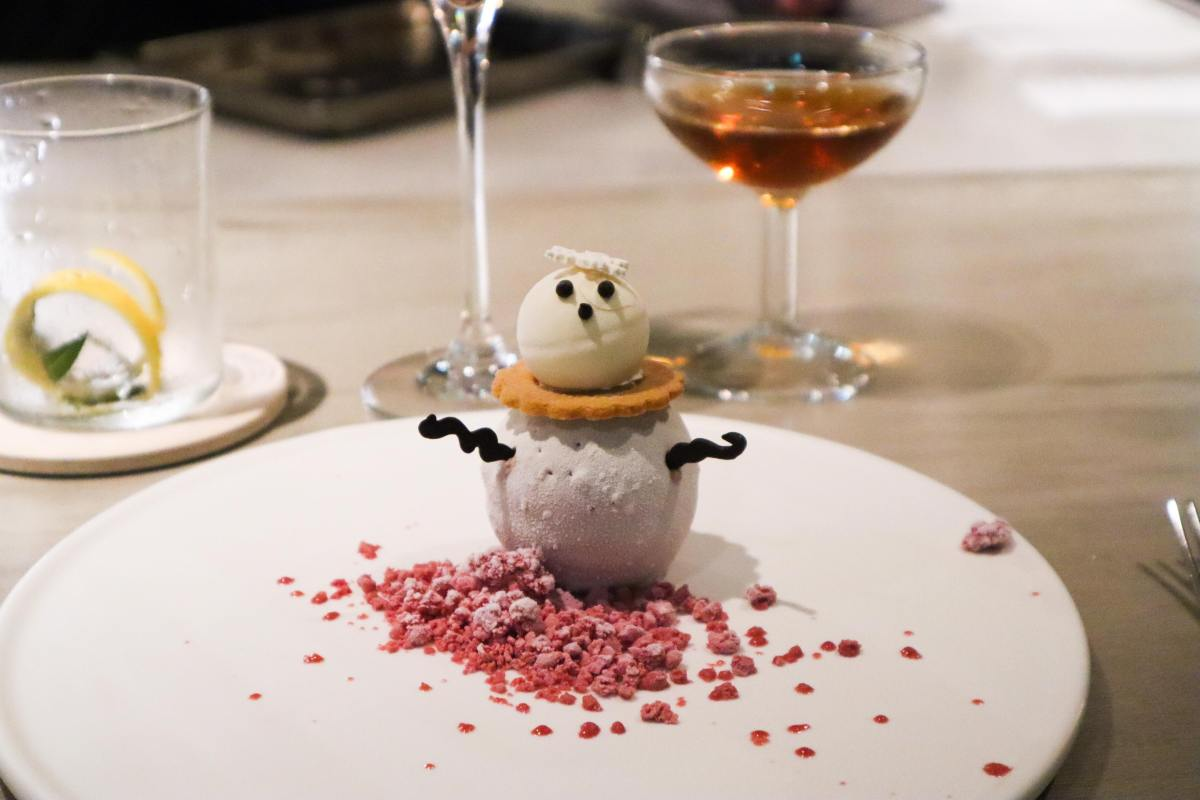 Snowman dish at Impromptu by Paul Lee