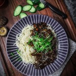 Vegan Jajangmyeon (Black Bean Noodles)