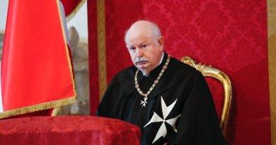 Умер великий магистр Мальтийского ордена