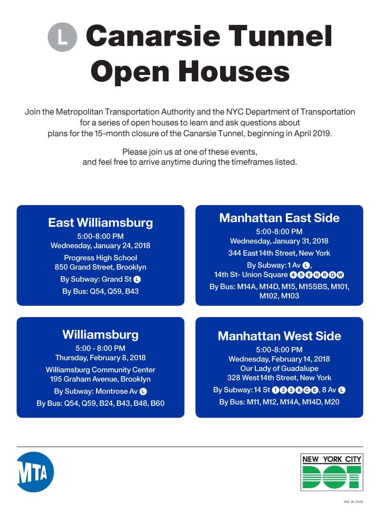 L Canarsie Tunnel Open Houses 2018