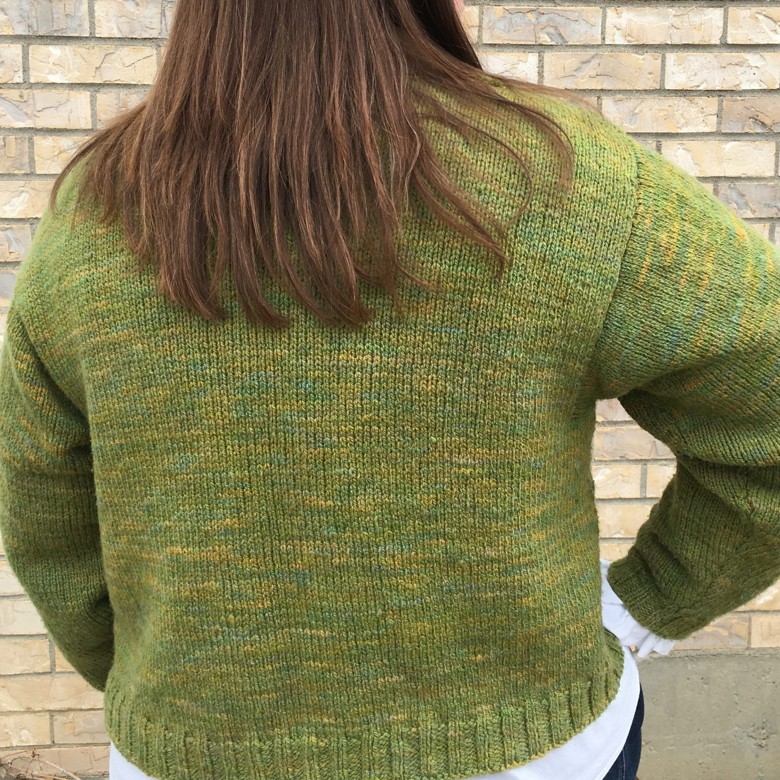 Sweater knit in Crabapple Leaf #1