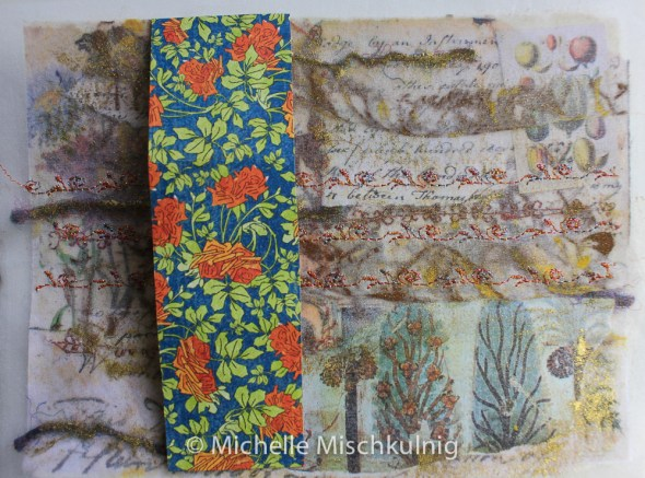 Adding a decorative panel from scrap booking card.