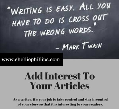 Add Interest To Your Articles