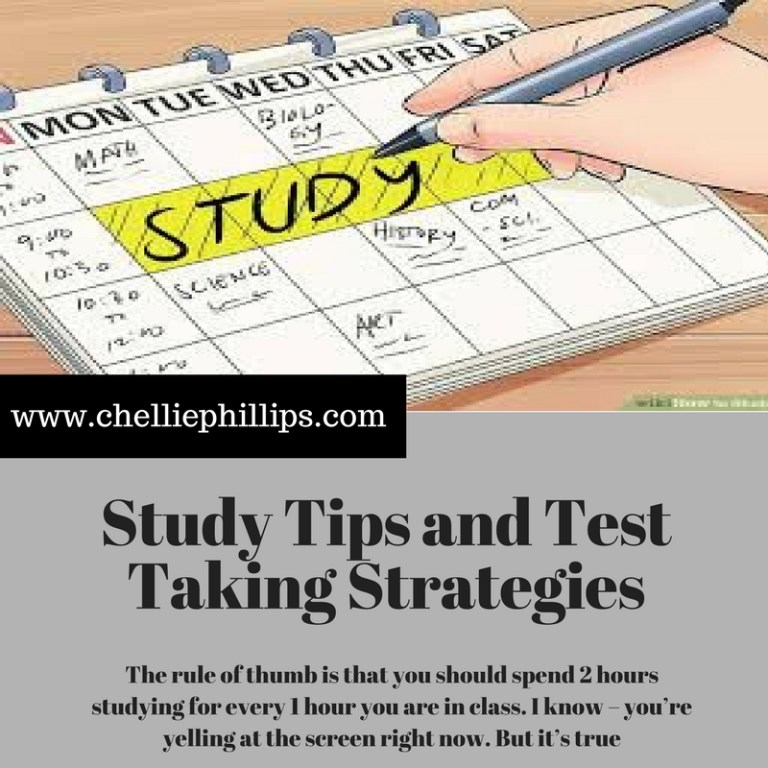 Study Strategies and Test Taking Tips