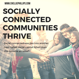 Socially connected communities thrive