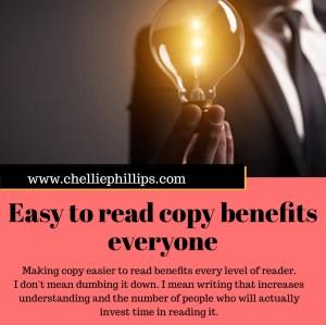 Easy to read copy benefits everyone