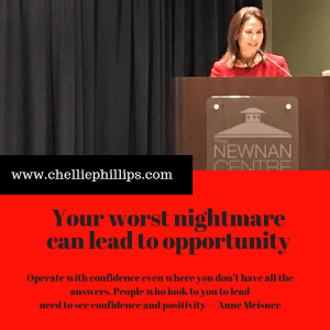 Worst nightmare can lead to opportunity