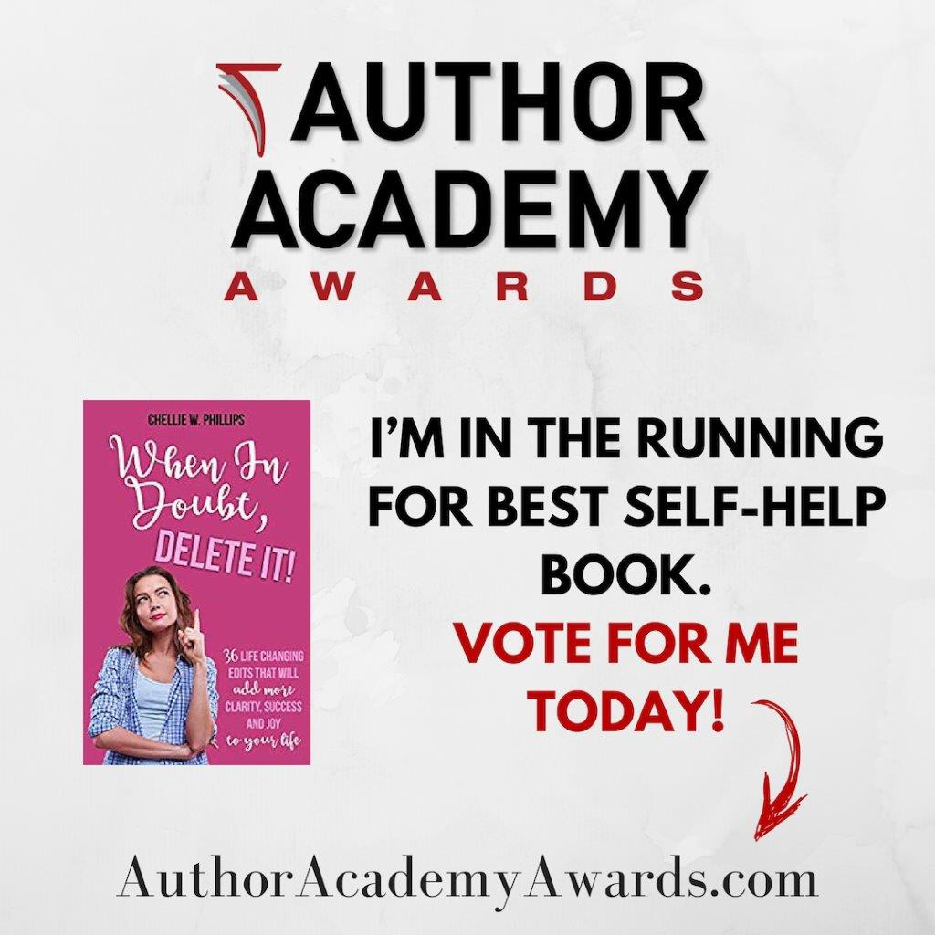 """So Excited! I need you to vote!  My  Book, """"When In Doubt, Delete It!"""" Is Nominated for Global Award"""