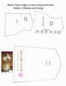 Religious/Biblical Characters Costume for Barbie or Ken Printable Pattern Free to Download