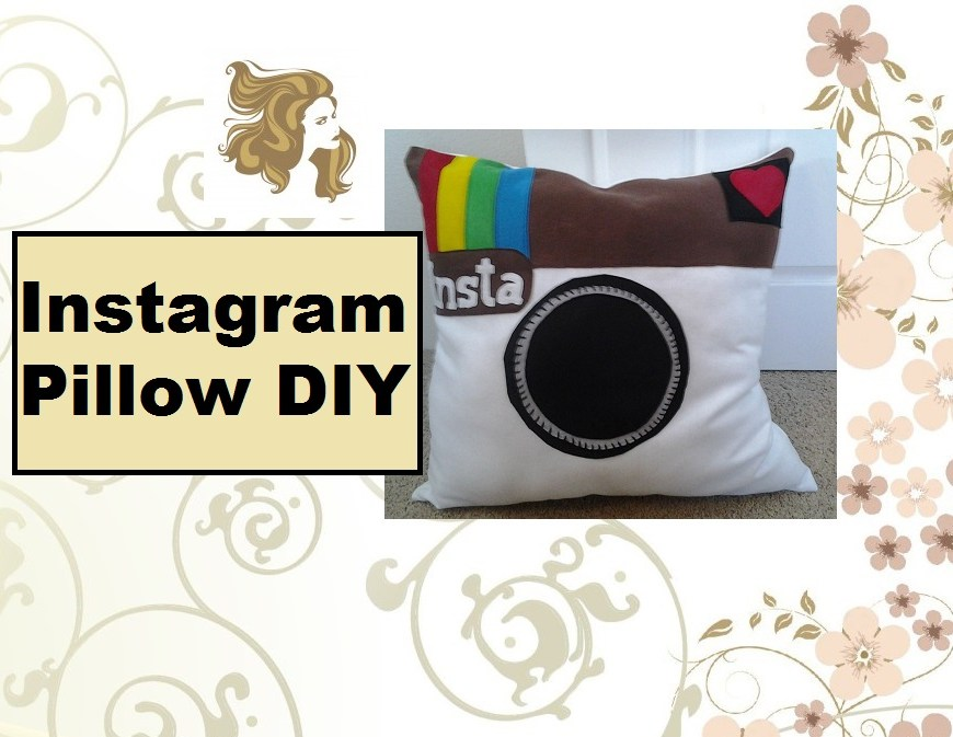 "Video tutorial header states ""Instagram Pillow DIY"""
