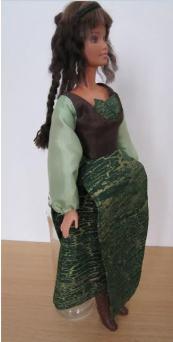 Stephanie of Normandie Folk Style Dress 2
