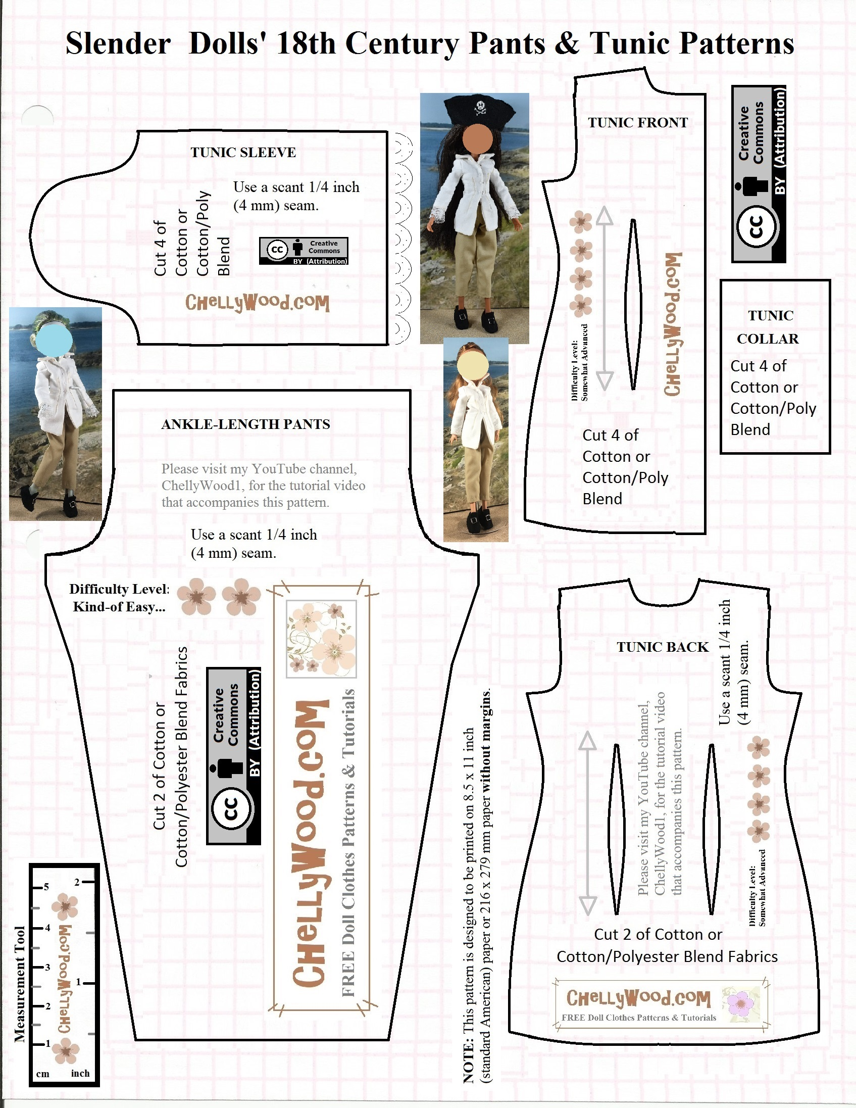 This is a graphic of Printable Sewing Pattern for fox