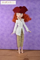 Click here for all the patterns and tutorials you'll need to help you make this outfit: https://chellywood.com/2017/08/10/free-doll-clothes-patterns-pirate-costume-chellywood-com/