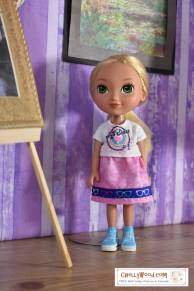 "Click here for all the free printable sewing patterns and tutorials you'll need to make the outfit worn by my Dora and Friends ""Alana"" doll: https://wp.me/p1LmCj-GhF"