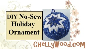 Please visit ChellyWood.com for free printable sewing patterns and diy tutorial videos that go with each pattern. The page attached to this image on ChellyWood.com includes both a free pdf printable sewing pattern and a video tutorial showing you how to make this adorable quilted-look no-sew holiday ornament, which makes a great gift for Hanukkah or Christmas 2019. These craft projects are great for craft fair /craft show / bazaar sales ideas for the holidays. They're easy to make and do not require any sewing, even though they look quilted.