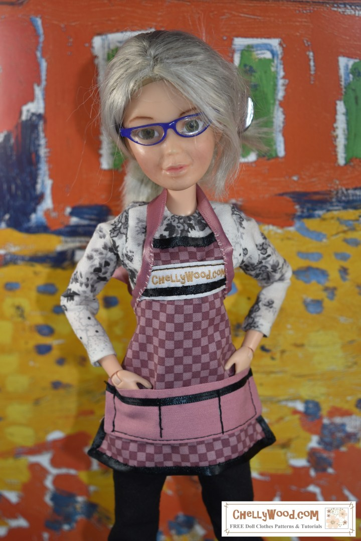 The patterns and tutorials for making this pattern for a 1:6 scale doll apron with pockets will be posted on this website at 7:00 AM Mountain Standard Time, on 19 March 2020.