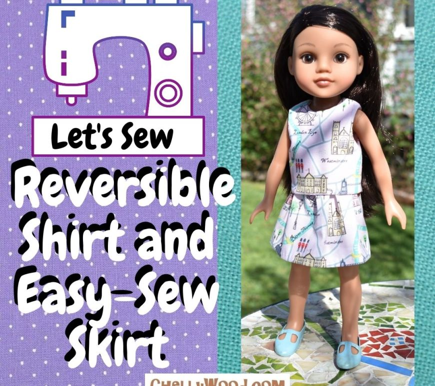 Easy 14 inch doll shorts pattern and tutorial