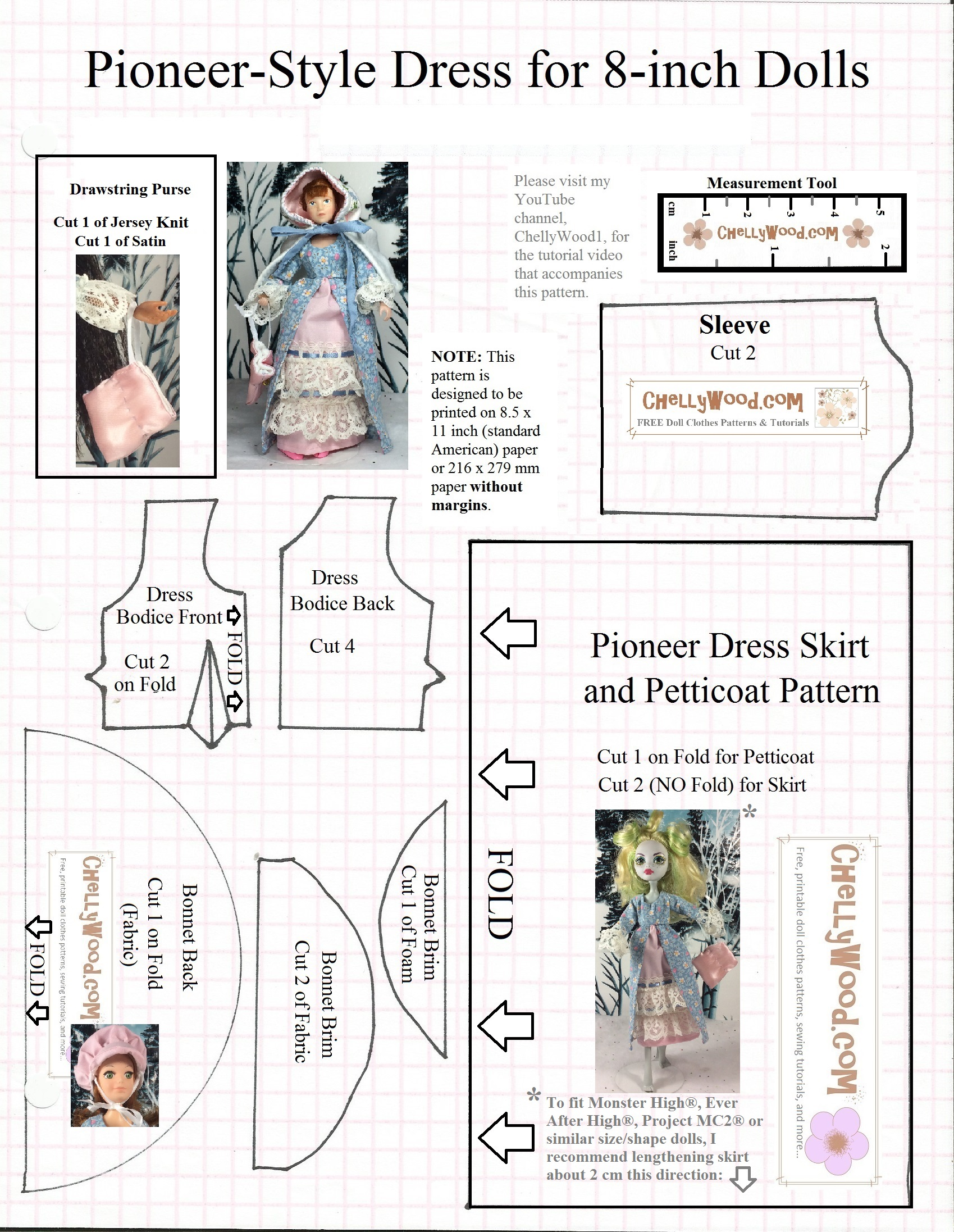 Everafterhigh Or Monsterhigh Clothes Sewing Patterns