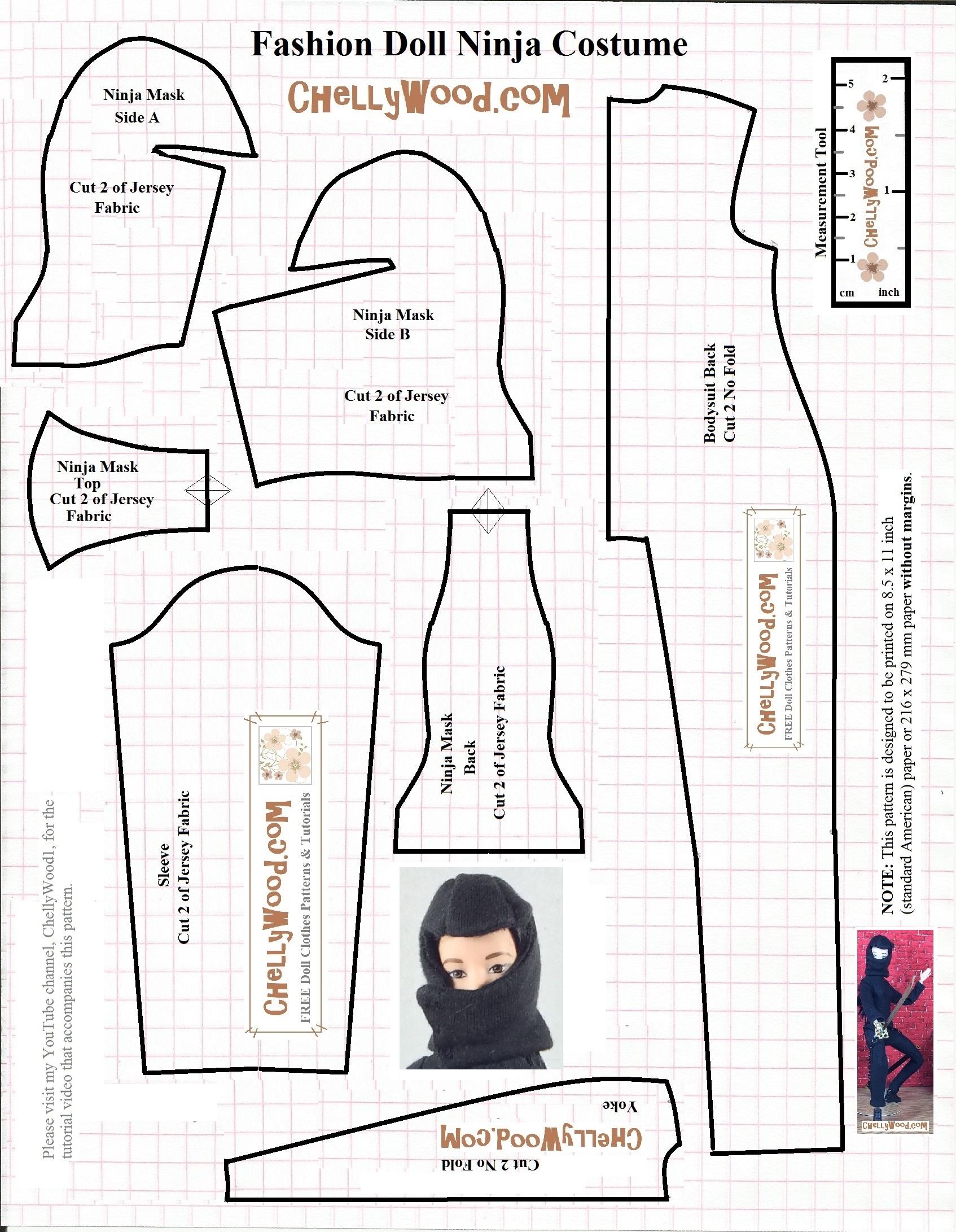 Sew your own #DIY fashion #Dolls' #NinjaWarrior uniform w