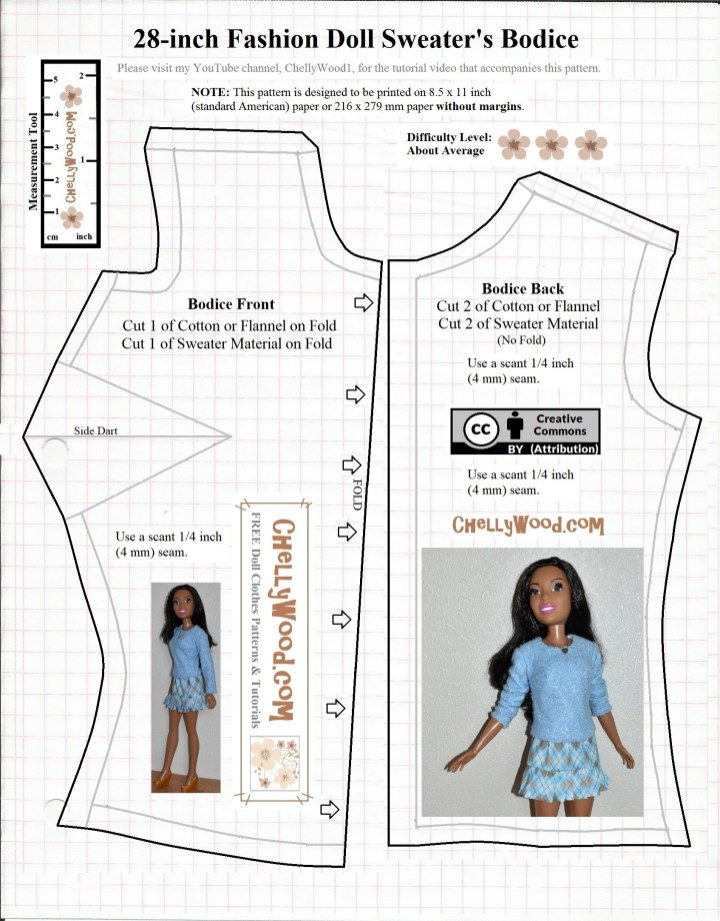 Free Printable Barbie Clothes Sewing Patterns : printable, barbie, clothes, sewing, patterns, Barbie, Dress, Patterns, Printable, World, Apparel, Store