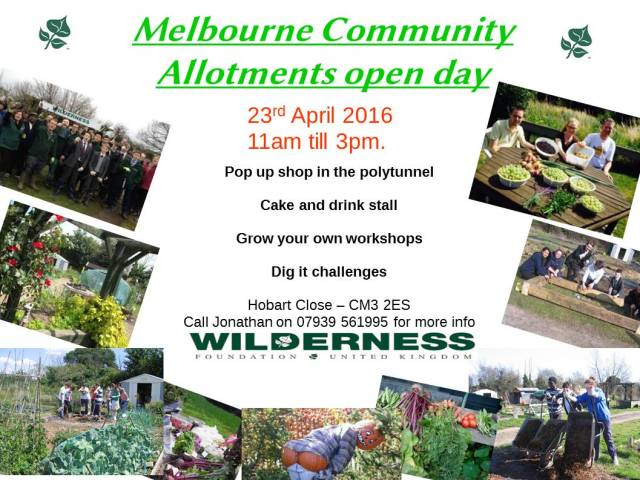 Wilderness Foundation Allotment Open Day • Chelmsford