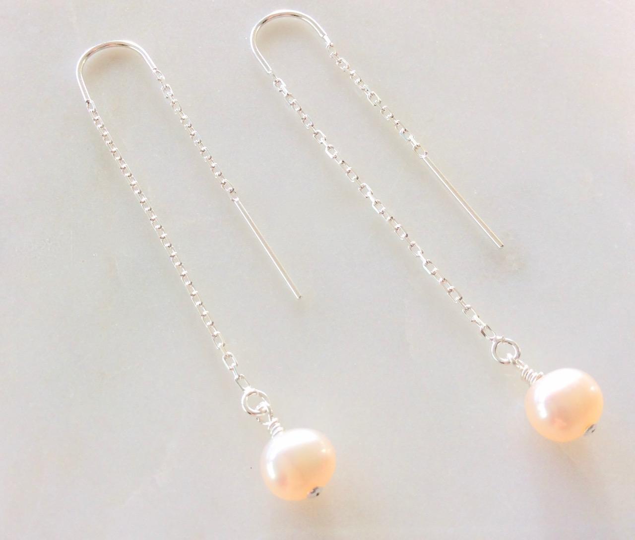Silver Threader Earrings Threader Earrings Sterling Silver