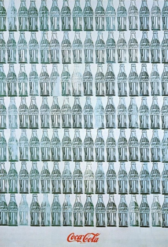 Image result for andy warhol green coca cola bottles