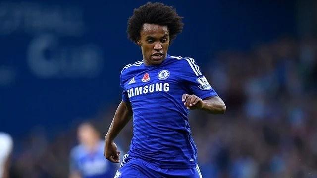 Willian participou da quinta vitória consecutiva do Chelsea na Premier League (Foto: Chelsea FC)