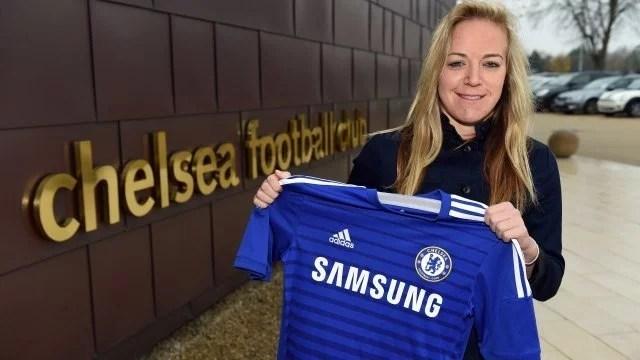 Gemma Davison assinou um contrato de dois anos com o Chelsea Ladies ( Foto: Chelsea FC)