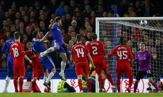 Ivanovic decidiu a semifinal da Capital One Cup (Foto: Reuters)