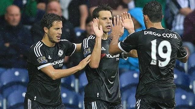 Hazard e Azpilicueta foram peças importantes na vitória blue (Foto: Chelsea FC)